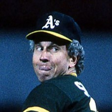 Don Sutton - 1985 Oakland Athletics - original full color 35mm mounted slide (049)