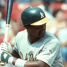 Dave Henderson - 1988 Oakland Athletics - original full color 35mm mounted slide (111)