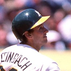 Terry Steinbach - 1988 Oakland Athletics - original full color 35mm mounted slide (143)