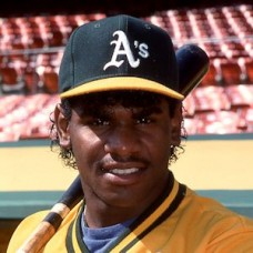 Felix Jose - 1988 Oakland Athletics - original full color 35mm mounted slide (144)