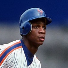 Darryl Strawberry - New York Mets (illegible date) - original 35mm full color mounted slide(149)