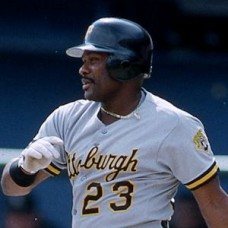 Lloyd McClendon - 1993 Pittsburgh Pirates - set of 2 one-of-a-kind full color 35mm slides. (611-612)