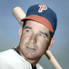 "Bama Rowell - 1948 Philadelphia Phillies 4""x6"" colorized print"