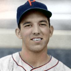 "Bobby Bragan - c. 1940-41 Philadelphia Phillies 4""x6"" colorized print"