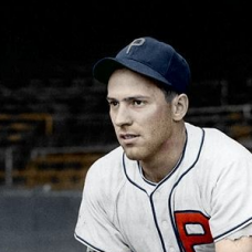 "Danny Litwhiler - c. 1940-41 Philadelphia Phillies (home uniform) - 4""x6"" colorized print"