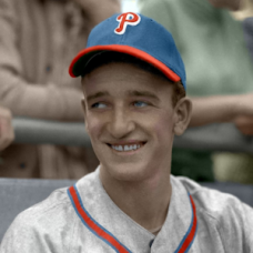 "Dick Mauney - 1946 Philadelphia Phillies 4""x6"" colorized print"