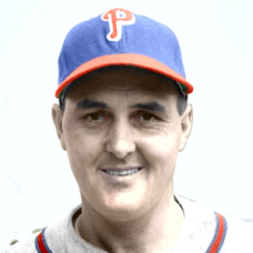 "Dutch Leonard - 1947 Philadelphia Phillies 4""x6"" colorized print"