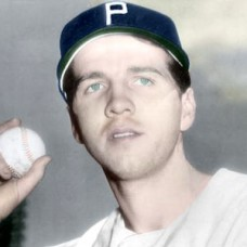 "Earl Naylor - 1942 Philadelphia Phillies 4""x6"" colorized print"