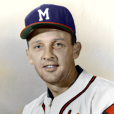 "Ernie Johnson (1950s) - 4""x6"" colorized print"
