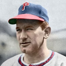 "Freddy Schmidt - 1947 Philadelphia Phillies 4""x6"" colorized print"