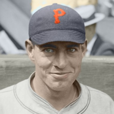 "Glenn Wright (1925) - 4""x6"" colorized print"