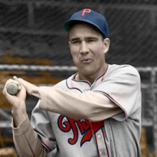 "Hersh Martin - c. 1939-40 Philadelphia Phillies - 4""x6"" colorized print"