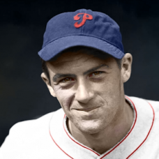 "Hugh Mulcahy - c. 1935-36 Philadelphia Phillies - 4""x6"" colorized print"