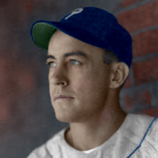 "Johnny Peacock (c. 1944-1945) - 4""x6"" colorized print"