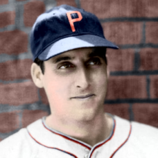 "Johnny Rizzo (c. 1940-1941) - 4""x6"" colorized print"