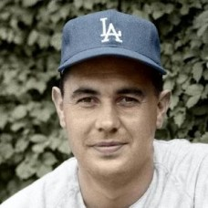 "Ken Rowe - 1963 Los Angeles Dodgers 4""x6"" colorized print"