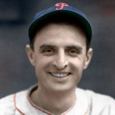 "Leo Norris - 1937 Philadelphia Phillies - 4""x6"" colorized print"