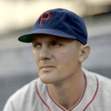 "Nick Etten - 1941 Philadelphia Phillies - 4""x6"" colorized print"