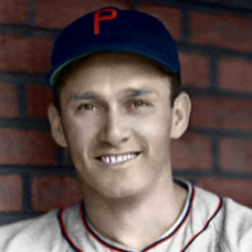 "Wally Millies - 1939 Philadelphia Phillies - 4""x6"" colorized print"