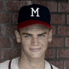 "Arnold Umbach - c. 1961-65 Milwaukee Braves - 4""x6"" colorized print"