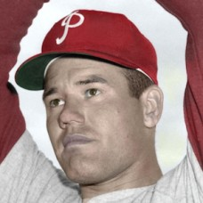 "Bob Conley - 1958 Philadelphia Phillies - 4""x6"" colorized print"