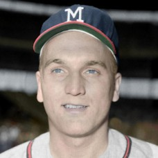 "Bob Hartman - 1959 Milwaukee Braves - 4""x6"" colorized print"