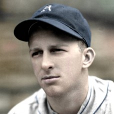 "Bud Thomas - c. 1937-39 Philadelphia Athletics - 4""x6"" colorized print"