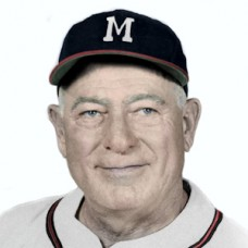 "Charlie Root - c. 1956-57 Milwaukee Braves - 4""x6"" colorized print"