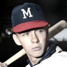 "Chuck Cottier - 1959 Milwaukee Braves - 4""x6"" colorized print"