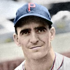 "Danny Murtaugh - 1941 Philadelphia Phillies 4""x6"" colorized print"