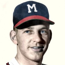 "Dave Cole - 1953 Milwaukee Braves - 4""x6"" colorized print"