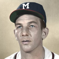 "Del Rice - 1956 Milwaukee Braves - 4""x6"" colorized print"