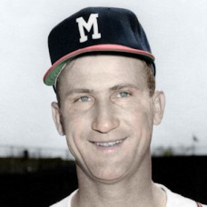 "Dewey Williams - 1952 Milwaukee Brewers - 4""x6"" colorized print"