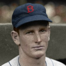 "Dick Midkiff - 1936 Boston Red Sox - 4""x6"" colorized print"
