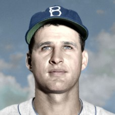 "Dick Teed - 1953 Brooklyn Dodgers - 4""x6"" colorized print"