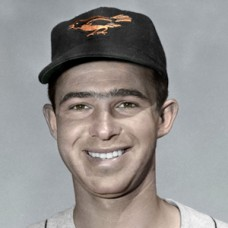 "Don Ferrarese - c. 1955-57 Baltimore Orioles - 4""x6"" colorized print"