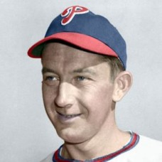 "Eddie Waitkus (1949) - 4""x6"" colorized print"