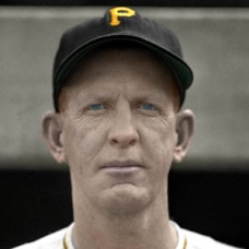 "Frank Barrett - 1950 Pittsburgh Pirates - 4""x6"" colorized print"