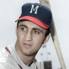 "Frank Torre - c. 1956-57 Milwaukee Braves - 4""x6"" colorized print"
