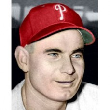 "Jimmy Bloodworth - 1950 Philadelphia Phillies - 4""x6"" colorized print"