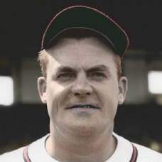 "Johnny Lanning - 1947 Boston Braves - 4""x6"" colorized print"