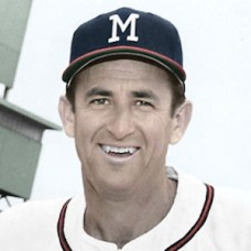 "Mickey Vernon - 1959 Milwaukee Braves - 4""x6"" colorized print"