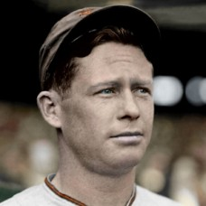 "Red Barkley - 1937 St. Louis Browns - 4""x6"" colorized print"