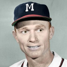 "Red Murff - 1956 Milwaukee Braves - 4""x6"" colorized print"