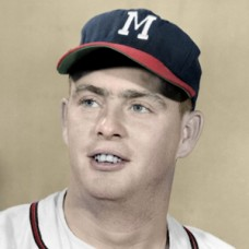 "Taylor Phillips - 1956 Milwaukee Braves - 4""x6"" colorized print"