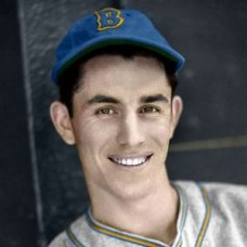 "Vince DiMaggio - c. 1937-38 Boston Bees - 4""x6"" colorized print"