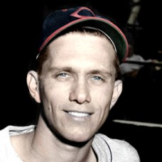 "Jack Conway - 1947 Cleveland Indians - 4""x6"" colorized print"