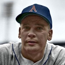 "Jack Littrell - 1955 Kansas City Athletics - 4""x6"" colorized print"