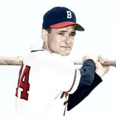 "Leo Righetti - 1952 Boston Braves 4""x6"" colorized print"