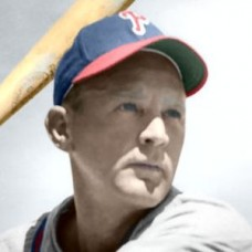 "Lou Finney - 1947 Philadelphia Phillies - 4""x6"" colorized print"